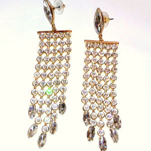 Jewelry - Sparkly Rhinestone Chandelier Earrings